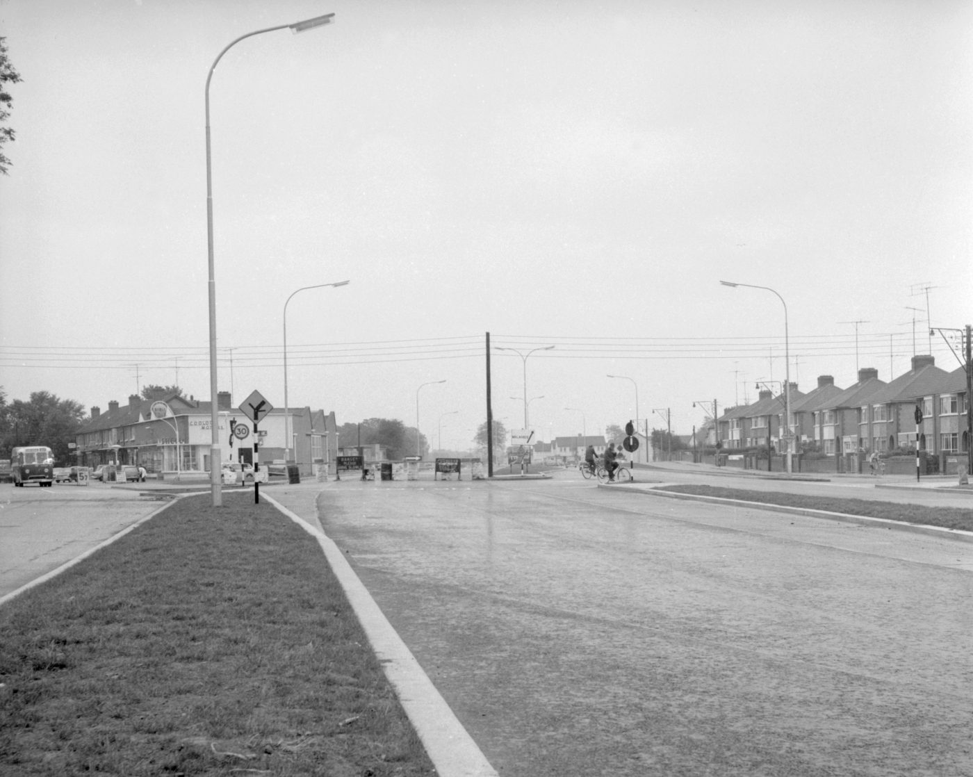 Malahide Road under construction